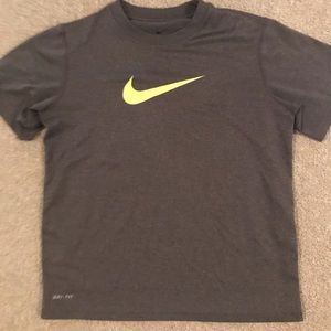 Grey Nike Drifit Shirt. Youth Small